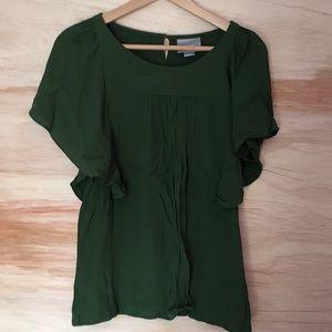 Green anthropologie blouse